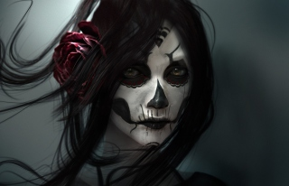 Beautiful Skull Face Painting sfondi gratuiti per cellulari Android, iPhone, iPad e desktop
