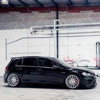 Volkswagen Golf R 2 0T Vossen Wheels Background for iPad