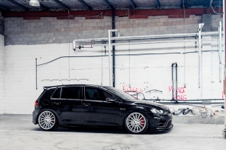 Volkswagen Golf R 2 0T Vossen Wheels Background for Android, iPhone and iPad