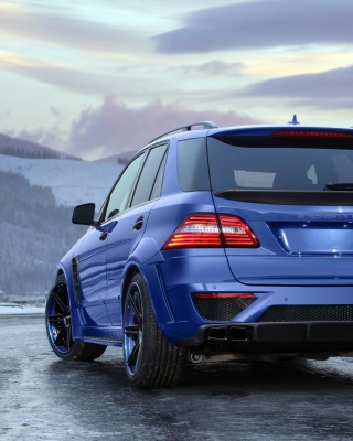 2012 Mercedes Benz ML63 AMG Wallpaper for iPhone 3G