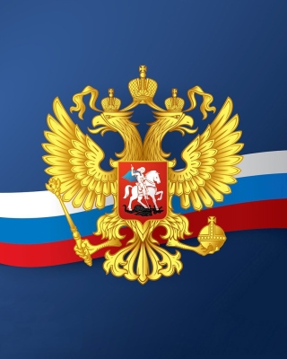 Russian coat of arms and flag Background for Nokia C5-03