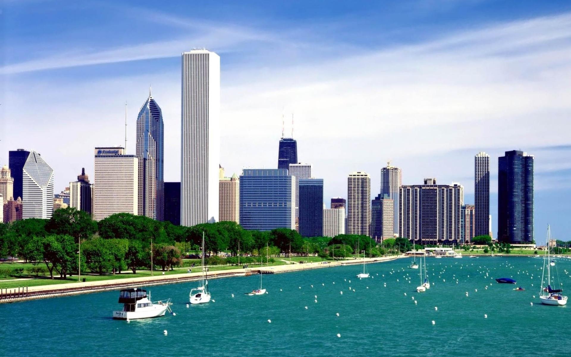 Michigan Lake Chicago para Widescreen Desktop PC 1920x1080 Full HD
