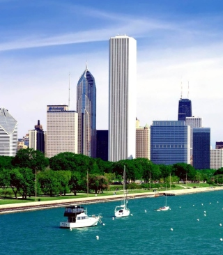 Free Michigan Lake Chicago Picture for Nokia Asha 311