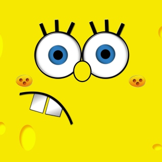 Картинка Yellow Spongebob на телефон iPad mini