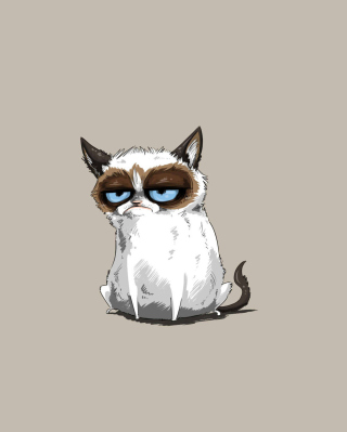 Grumpy Cat Drawing papel de parede para celular para Nokia C-Series