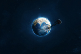 Planet and Asteroid - Fondos de pantalla gratis para Desktop 1280x720 HDTV
