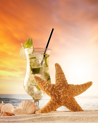 Beach Drinks Cocktail Background for 240x320