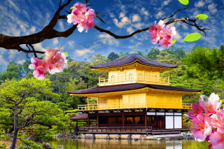 Free Golden Pavilion - Kinkaku-Ji Picture for Android, iPhone and iPad