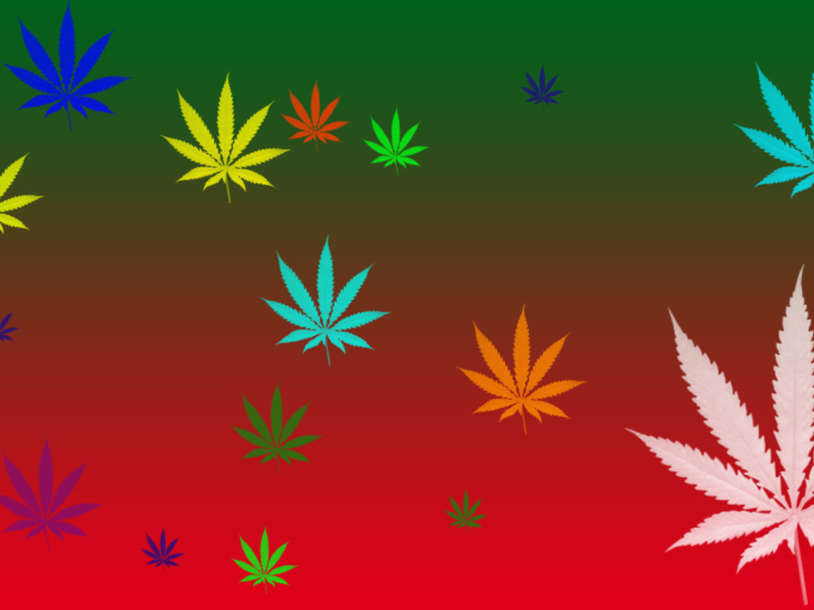 Das Weed Colours Wallpaper 1152x864