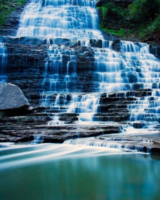 Albion Falls cascade waterfall in Hamilton, Ontario, Canada Background for iPhone 6 Plus