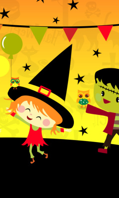 Screenshot №1 pro téma Halloween Trick or treating Party 240x400