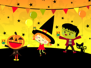 Screenshot №1 pro téma Halloween Trick or treating Party 320x240