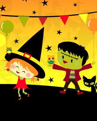 Free Halloween Trick or treating Party Picture for Nokia Asha 310