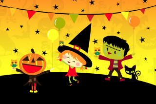 Halloween Trick or treating Party Wallpaper for Nokia X2-01
