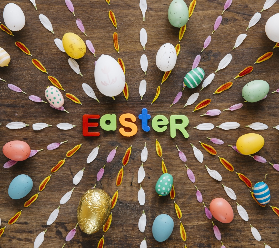 Обои Easter congratulation 1080x960