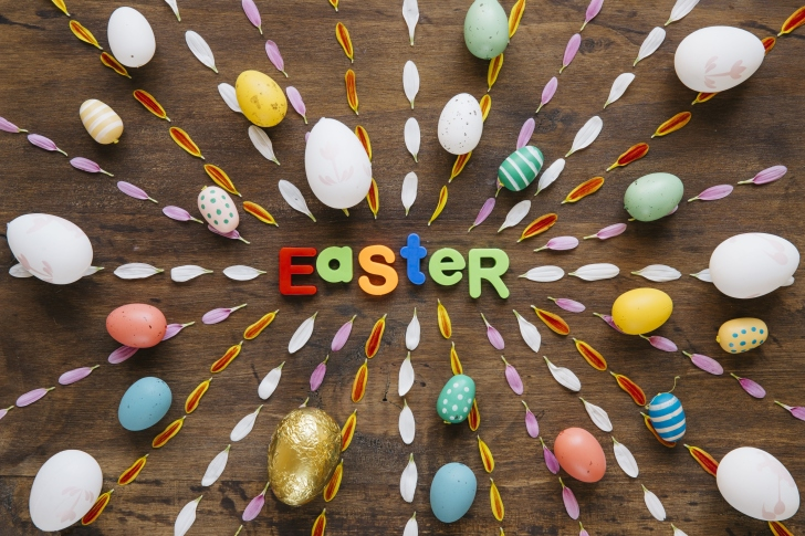 Easter congratulation wallpaper