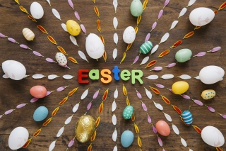 Easter congratulation Wallpaper for Android 480x800