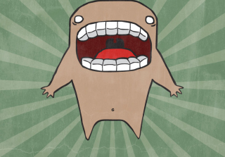 Free Screaming Monster Picture for Android, iPhone and iPad
