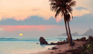 Tropical Painting sfondi gratuiti per cellulari Android, iPhone, iPad e desktop