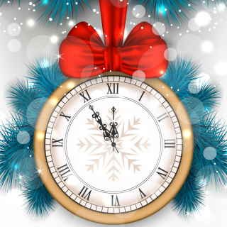 New Year Clock Picture for iPad 2