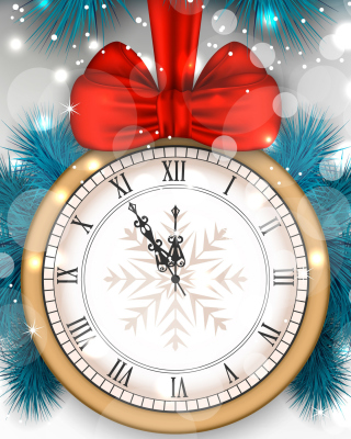 New Year Clock Wallpaper for Nokia Lumia 800