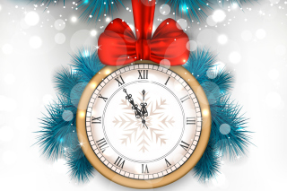 New Year Clock Wallpaper for 1200x1024