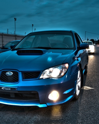 Subaru WRX STI Background for Nokia C5-06