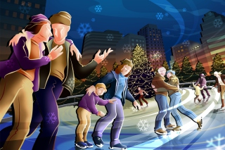 The Skating Rink Wallpaper for Android, iPhone and iPad