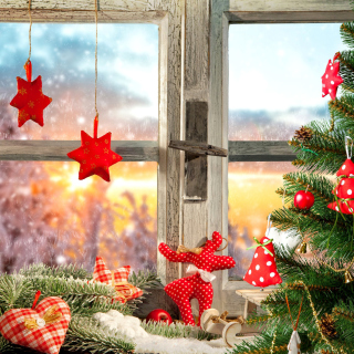 Christmas Window Home Decor - Fondos de pantalla gratis para iPad 2