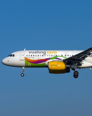 Airbus A320 Vueling Airlines Background for 240x320