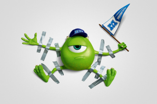 Kostenloses Monsters University, Mike Wazowski, Green Monster Wallpaper für Android, iPhone und iPad