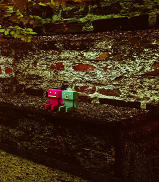 Cute Robots Wallpaper for Nokia Asha 306