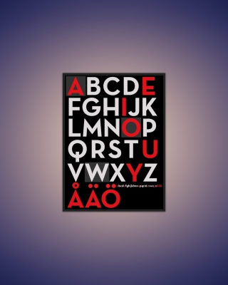 Free Alphabet Picture for iPhone 6 Plus