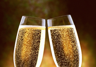 Champagne Toast Wallpaper for Android, iPhone and iPad