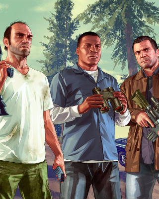 Grand Theft Auto V Gangsters Wallpaper for Nokia C5-06