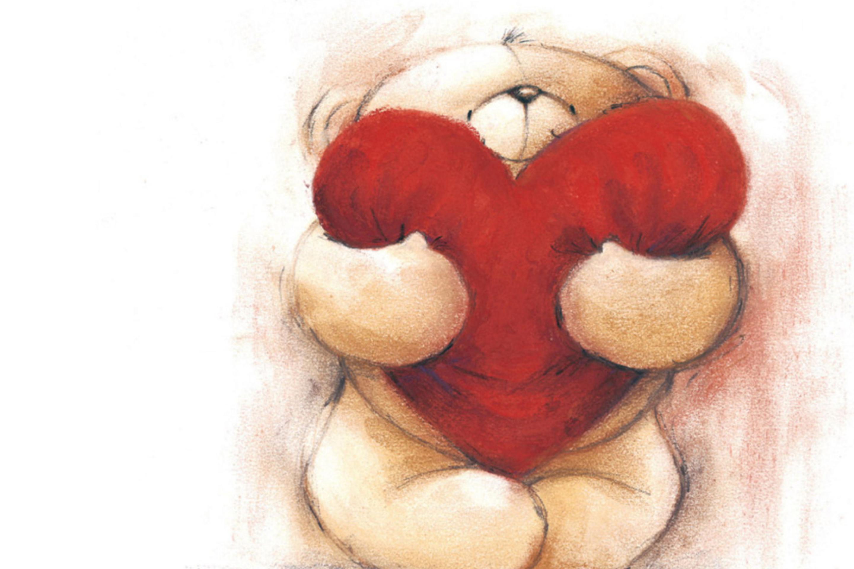 Мультяшные открытка для любимой девушки, картинки