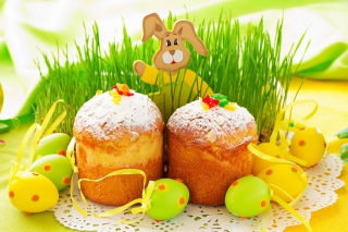 Easter Wish and Eggs Background for 1080x960