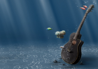 Underwater Guitar Picture for Android, iPhone and iPad