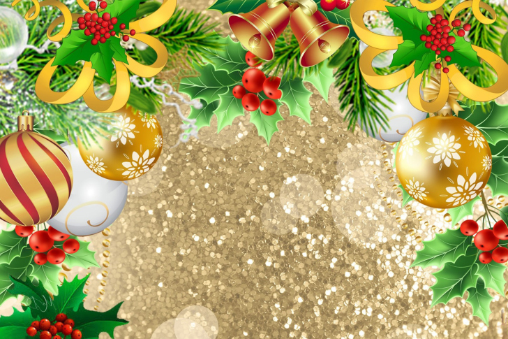 Fondo de pantalla Christmas card decor