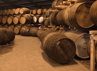 Whiskey Barrels Background for Android, iPhone and iPad