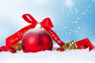Christmas Ball Ornament Set Background for 1366x768