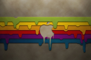 Apple Mac Logo Painting Background for Android, iPhone and iPad