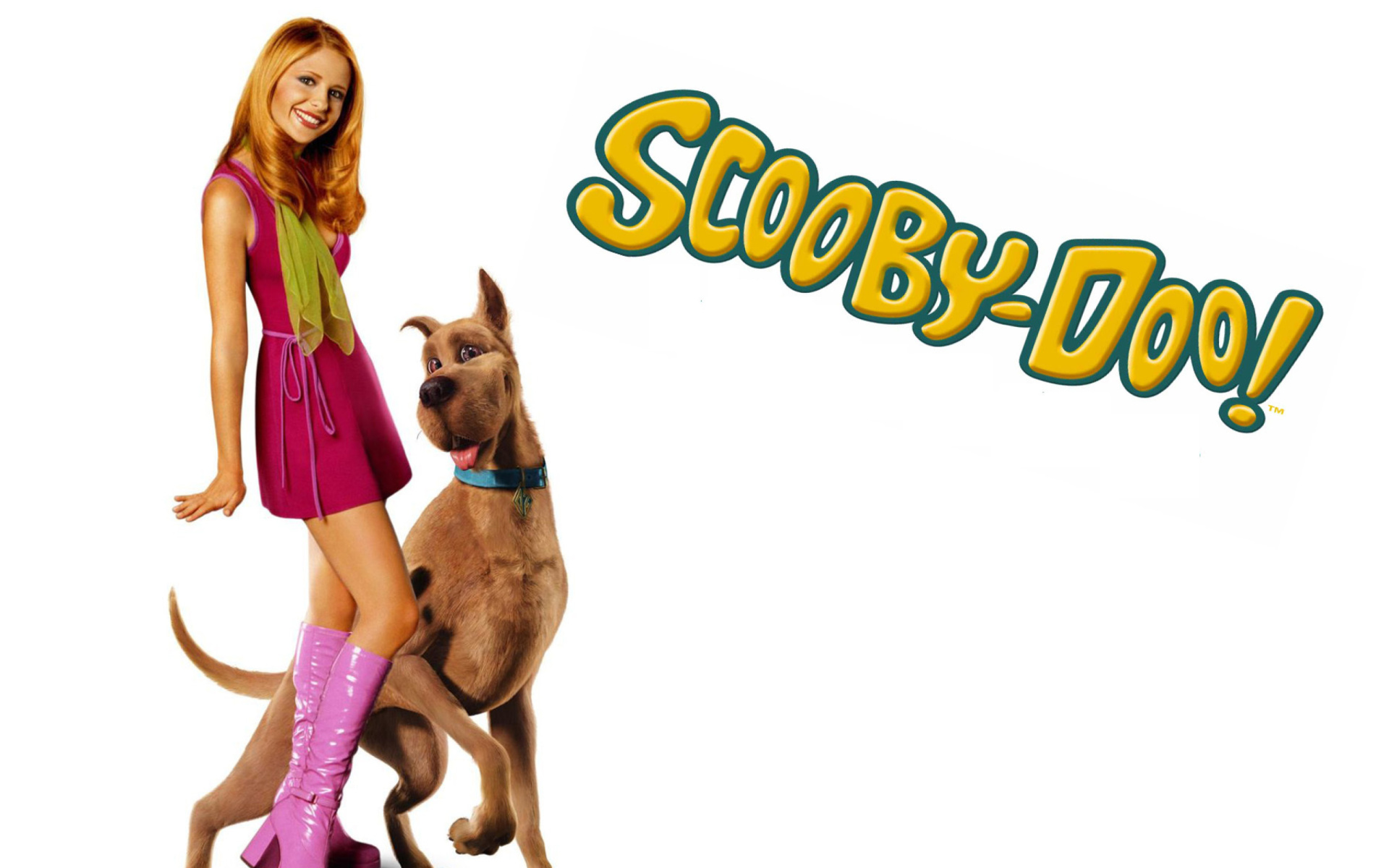 Screenshot №1 pro téma Sarah Michelle Gellar with Dog 1920x1200