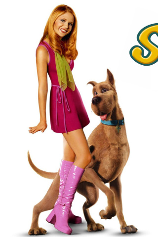 Screenshot №1 pro téma Sarah Michelle Gellar with Dog 320x480