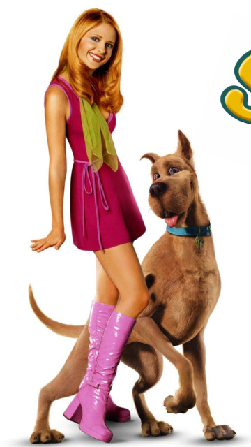 Screenshot №1 pro téma Sarah Michelle Gellar with Dog 360x640