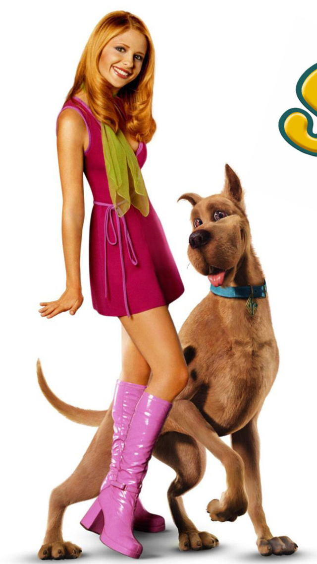 Screenshot №1 pro téma Sarah Michelle Gellar with Dog 640x1136
