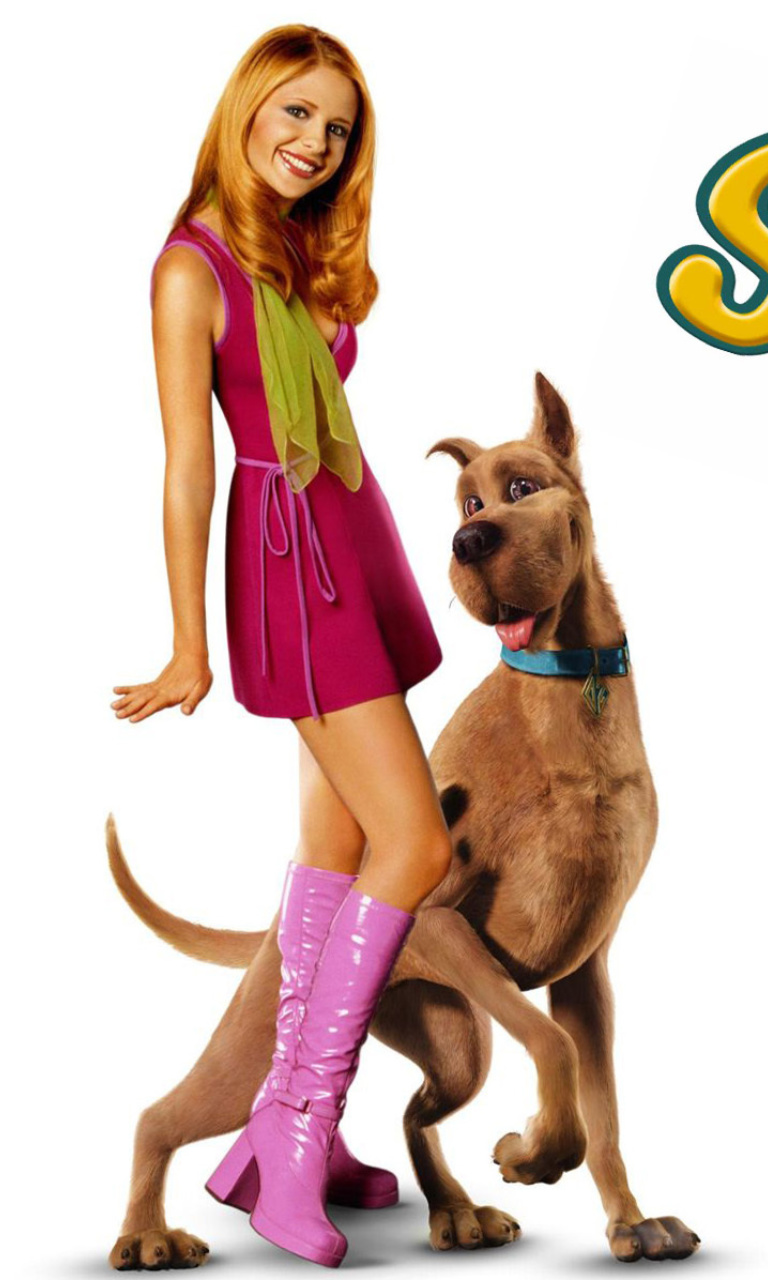 Screenshot №1 pro téma Sarah Michelle Gellar with Dog 768x1280