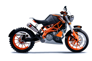 KTM Duke 125 Background for Android, iPhone and iPad