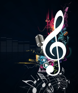 Just Music Background for Nokia Asha 300