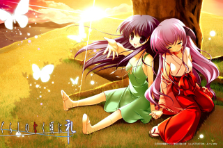 Hanyu and Rika in Higurashi Picture for Android, iPhone and iPad